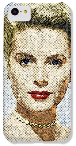 Grace Kelly iPhone 5c Case - Grace Kelly by Taylan Apukovska