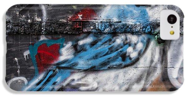 Bluejay iPhone 5c Case - Graffiti Bluejay by Carol Leigh