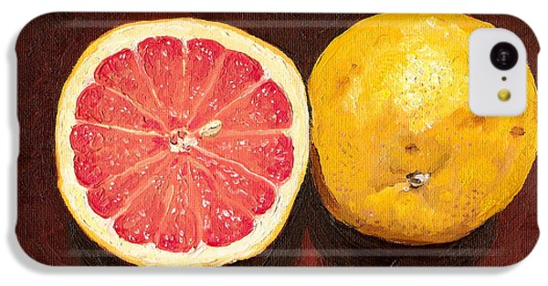 Grapefruits Oil Painting IPhone 5c Case by
