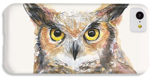 Great Horned Owl Watercolor IPhone 5c Case