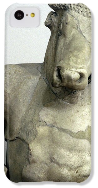 Minotaur iPhone 5c Case - Greece, Athens Classical Era Marble by Jaynes Gallery