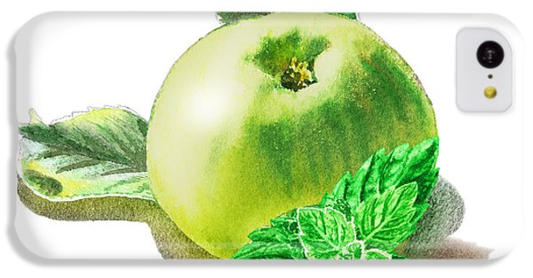 IPhone 5c Case featuring the painting Green Apple And Mint Happy Union by Irina Sztukowski