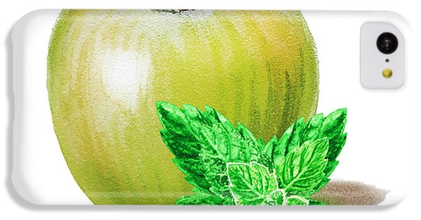 IPhone 5c Case featuring the painting Green Apple And Mint by Irina Sztukowski