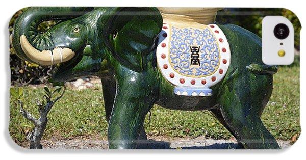 Decorative iPhone 5c Case - Green Elephant  by Doug Grey
