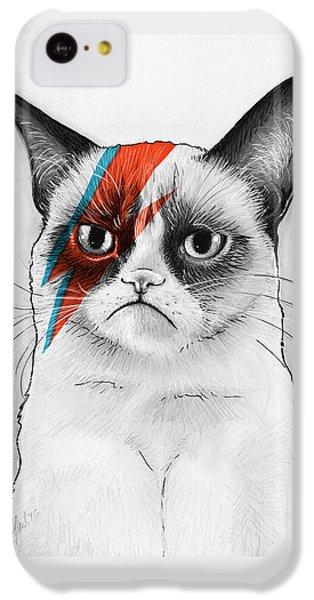 Grumpy Cat As David Bowie IPhone 5c Case by Olga Shvartsur
