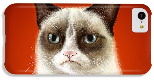 Grumpy Cat IPhone 5c Case by Olga Shvartsur
