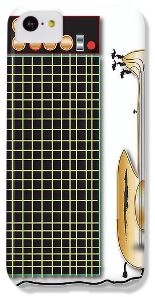 IPhone 5c Case featuring the digital art Guitar And Amp by Marvin Blaine