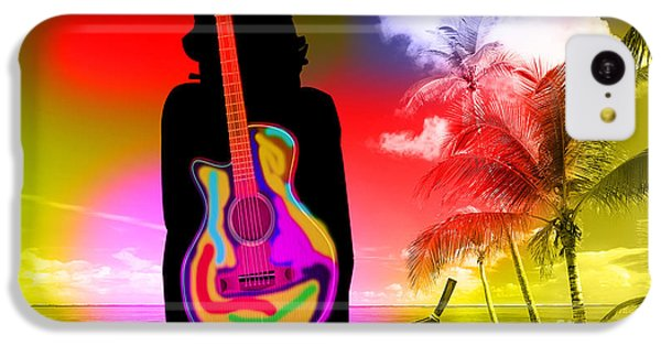 Guitar Girl At Beach IPhone 5c Case by Marvin Blaine