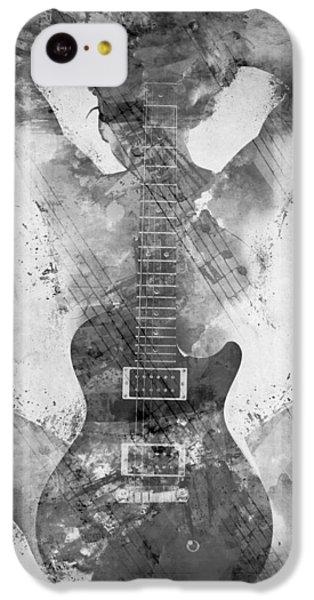 Sound iPhone 5c Case - Guitar Siren In Black And White by Nikki Smith