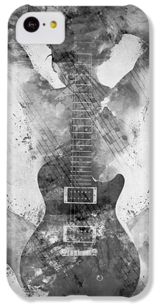 Guitar iPhone 5c Case - Guitar Siren In Black And White by Nikki Smith