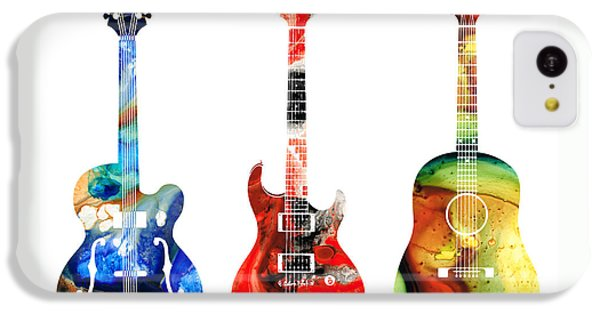 Guitar Threesome - Colorful Guitars By Sharon Cummings IPhone 5c Case