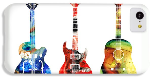 Guitar iPhone 5c Case - Guitar Threesome - Colorful Guitars By Sharon Cummings by Sharon Cummings