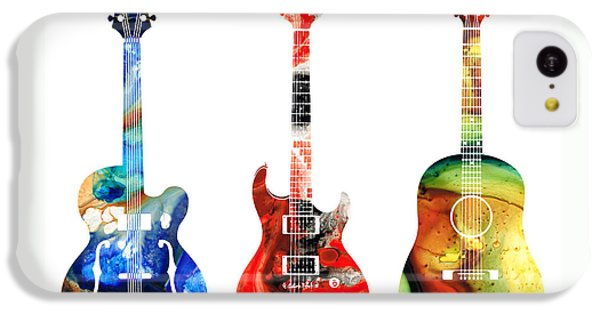 Guitar Threesome - Colorful Guitars By Sharon Cummings IPhone 5c Case by Sharon Cummings