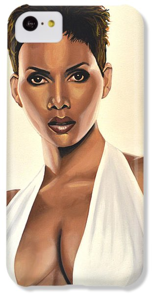 Halle Berry Painting IPhone 5c Case by Paul Meijering