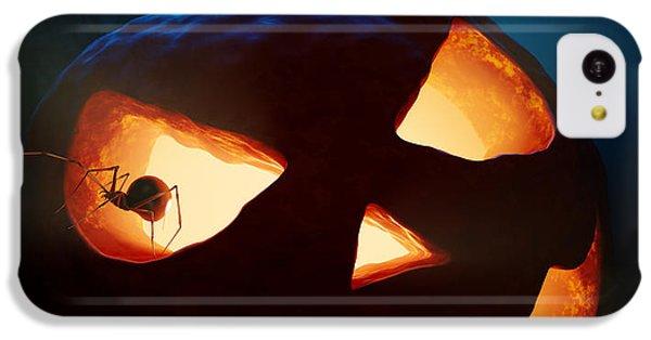Halloween Pumpkin And Spiders IPhone 5c Case by Johan Swanepoel