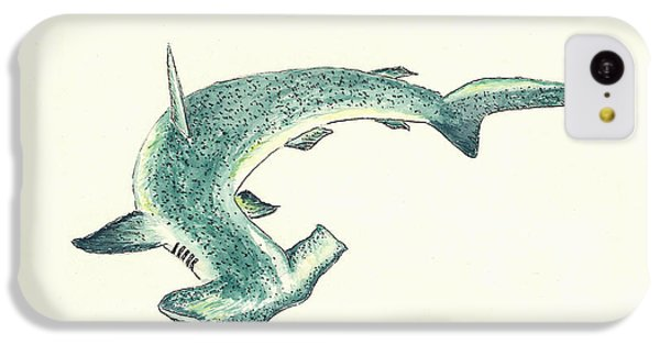 Hammerhead Shark IPhone 5c Case by Michael Vigliotti