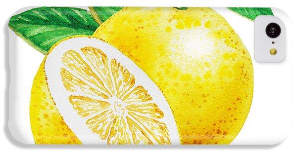 Happy Grapefruit- Irina Sztukowski IPhone 5c Case by Irina Sztukowski