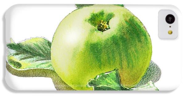 IPhone 5c Case featuring the painting Happy Green Apple by Irina Sztukowski