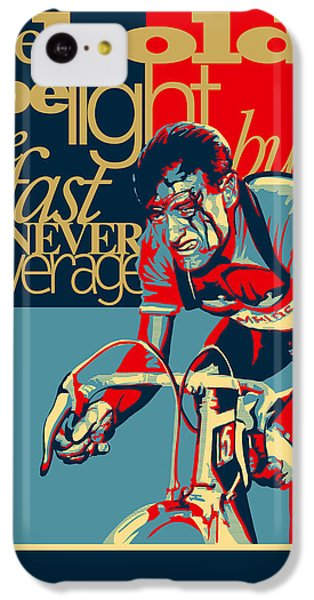 Fairy iPhone 5c Case - Hard As Nails Vintage Cycling Poster by Sassan Filsoof