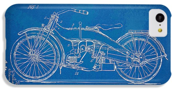 Motorcycle iPhone 5c Case - Harley-davidson Motorcycle 1924 Patent Artwork by Nikki Marie Smith