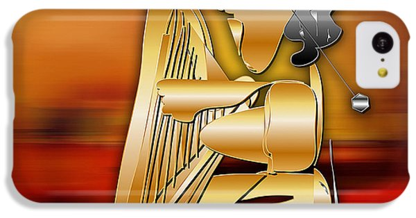 IPhone 5c Case featuring the digital art Harp Player by Marvin Blaine