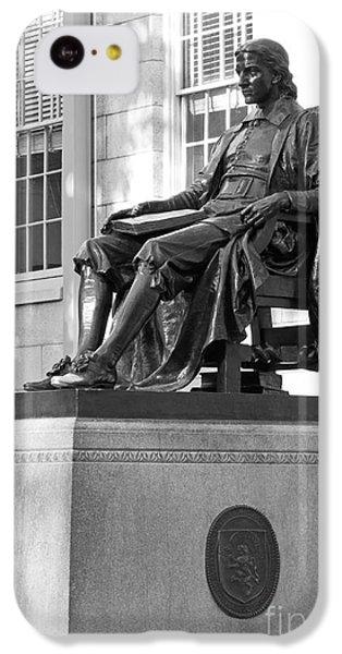 John Harvard Statue At Harvard University IPhone 5c Case by University Icons