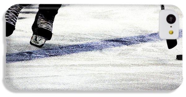 Hockey iPhone 5c Case - He Skates by Karol Livote