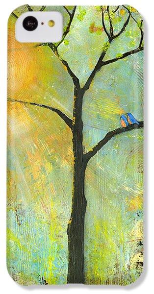 Hello Sunshine Tree Birds Sun Art Print IPhone 5c Case by Blenda Studio