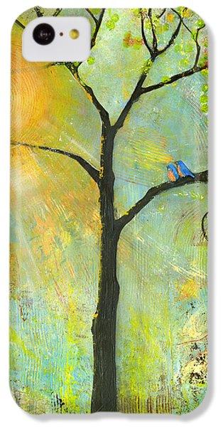 Hello Sunshine Tree Birds Sun Art Print IPhone 5c Case