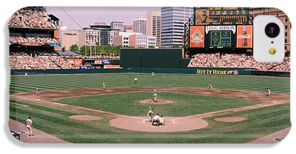 High Angle View Of A Baseball Field IPhone 5c Case by Panoramic Images