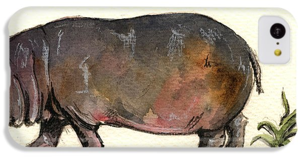 Hippo IPhone 5c Case by Juan  Bosco