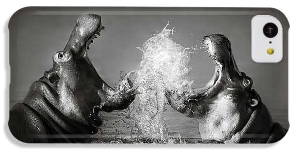 Hippo's Fighting IPhone 5c Case by Johan Swanepoel