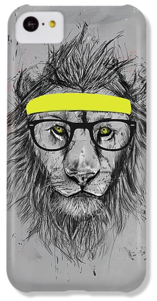 Lion iPhone 5c Case - Hipster Lion by Balazs Solti