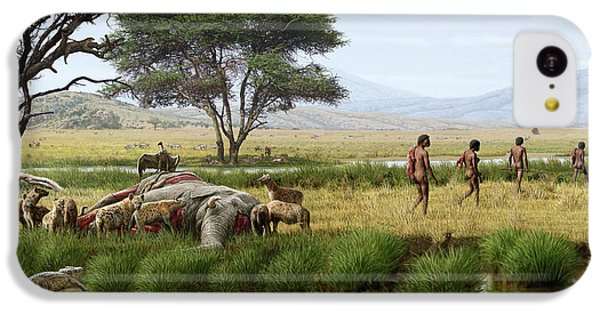 Homo Ergaster Hunters IPhone 5c Case by Mauricio Anton