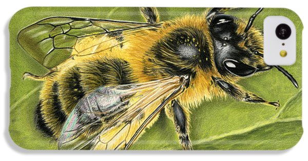 Ant iPhone 5c Case - Honeybee On Leaf by Sarah Batalka