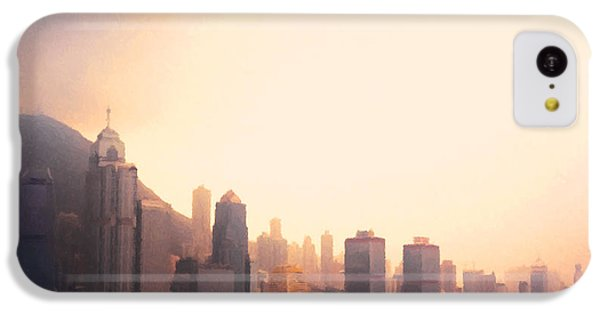 Hong Kong Harbour Sunset IPhone 5c Case by Pixel  Chimp