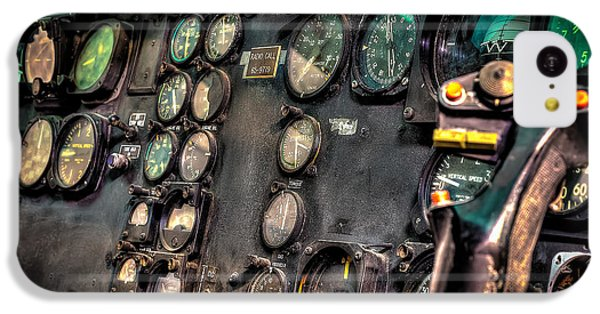 Helicopter iPhone 5c Case - Huey Instrument Panel by David Morefield
