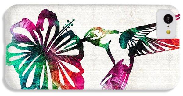 Humming Bird iPhone 5c Case - Hummingbird Art - Tropical Chorus - By Sharon Cummings by Sharon Cummings