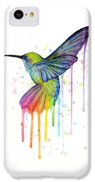 Hummingbird Of Watercolor Rainbow IPhone 5c Case by Olga Shvartsur