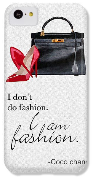 Grace Kelly iPhone 5c Case - I Am Fashion by Rebecca Jenkins