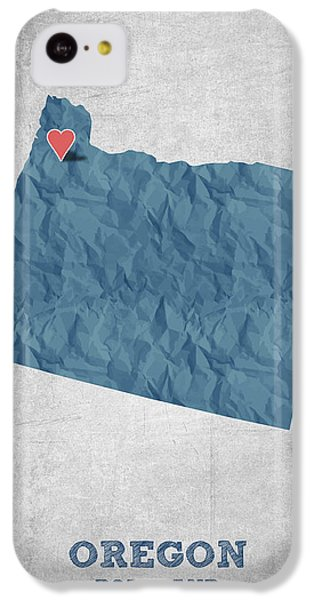 I Love Portland Oregon- Blue IPhone 5c Case by Aged Pixel