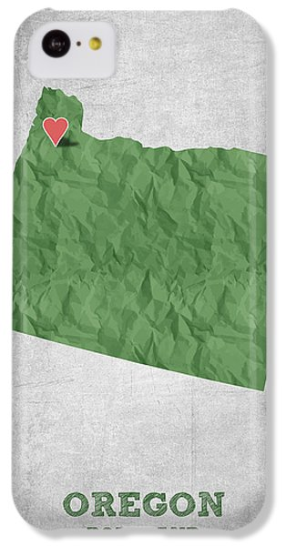I Love Portland Oregon- Green IPhone 5c Case by Aged Pixel