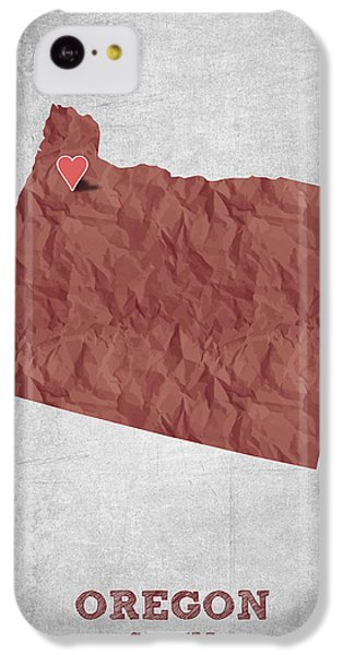I Love Salem Oregon- Red IPhone 5c Case by Aged Pixel