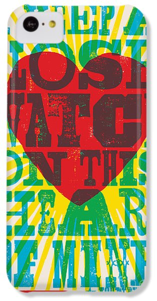 I Walk The Line - Johnny Cash Lyric Poster IPhone 5c Case