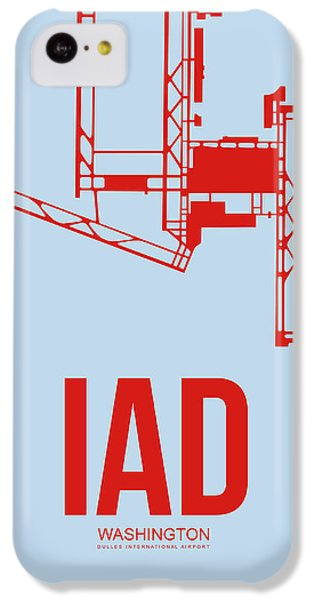 Iad Washington Airport Poster 2 IPhone 5c Case by Naxart Studio