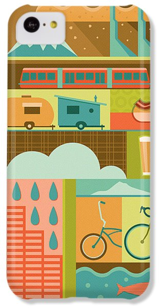 Iconic Portland IPhone 5c Case by Mitch Frey