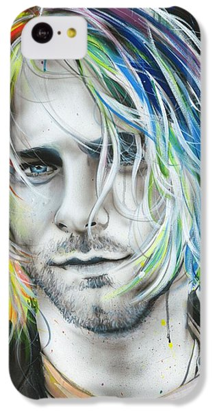Kurt Cobain - ' In Debt For My Thirst ' IPhone 5c Case by Christian Chapman Art