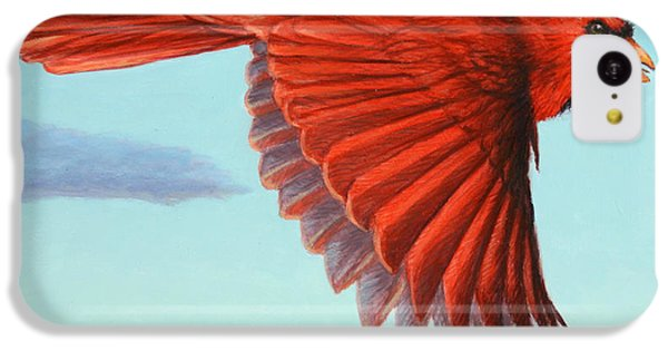 Cardinal iPhone 5c Case - In Flight by James W Johnson