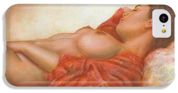 Nudes iPhone 5c Case - In Her Own World by John Silver