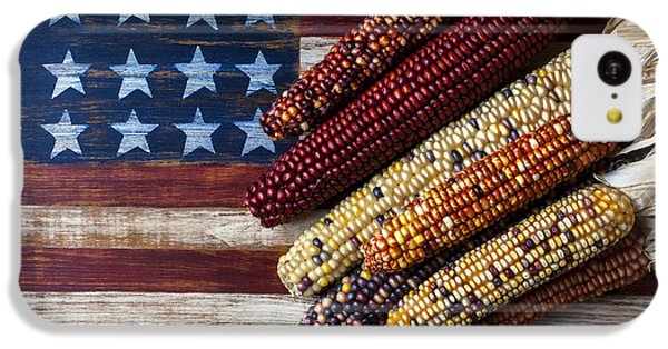 Indian Corn On American Flag IPhone 5c Case